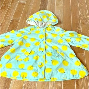 Like New Gap Yellow Apple and Green Rain Coat Sz 5